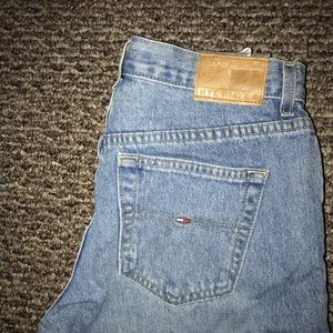 tommy hilfiger straight leg low/mid rise jeans